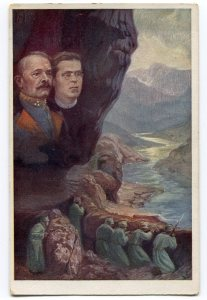 commander Borojevič embraces poet Gregorčič